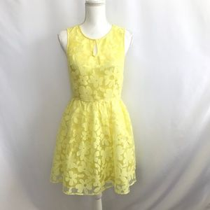 Ina Junior's Yellow Floral Pattern Dress